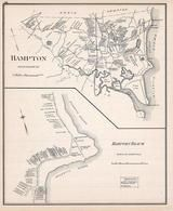 Hampton, Hanpton Beach, New Hampshire State Atlas 1892 Uncolored